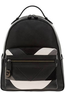 Рюкзак Городской черный рюкзак из натуральной кожи Coach