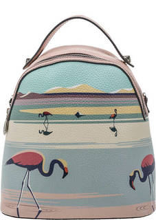 Сумка-рюкзак из натуральной кожи с принтом Curanni