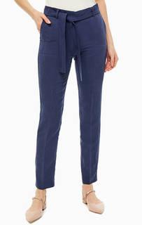 Брюки Темно-синие брюки с добавлением льна Stefanel