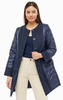Куртка Демисезонная синяя куртка на пуговицах Stefanel