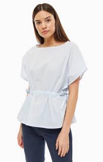Блуза Белая хлопковая блуза в полоску Stefanel