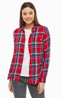 Рубашка Приталенная рубашка в клетку с застежкой на пуговицы Superdry
