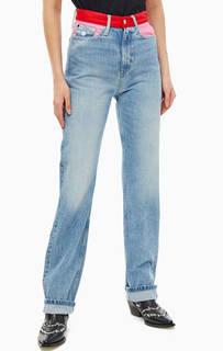 Джинсы Прямые синие джинсы с высокой посадкой CKJ 030 Calvin Klein