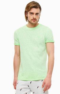 Футболка Однотонная хлопковая футболка с короткими рукавами Superdry