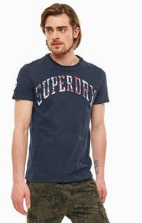 Футболка Хлопковая футболка с ярким принтом Superdry