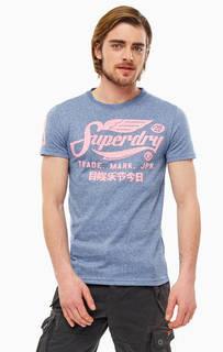 Футболка Синяя футболка с ярким принтом Superdry