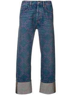 Valentino джинсы VLTN Grid свободного кроя