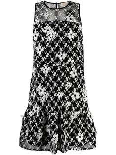 Michael Michael Kors платье с оборками и цветочным принтом