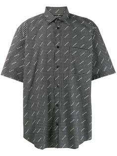 Balenciaga рубашка в клетку с логотипом