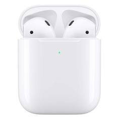Наушники с микрофоном APPLE AirPods, with Wireless Charging Case, Bluetooth, вкладыши, белый