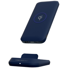 Внешний аккумулятор InterStep 10000mAh Qi 10W TypeC Blue