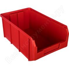 Пластиковый красный ящик 341х207х143мм стелла v-3