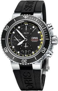 Швейцарские мужские часы в коллекции Aquis Мужские часы Oris 774-7708-41-54-set