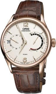 Швейцарские золотые мужские часы в коллекции Artelier Мужские часы Oris 111-7700-60-61-set