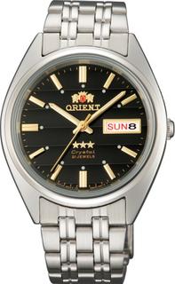 Японские мужские часы в коллекции 3 Stars Crystal 21 Jewels Мужские часы Orient AB0000DB