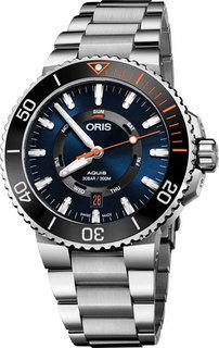 Швейцарские мужские часы в коллекции Aquis Мужские часы Oris 735-7734-41-85MB