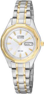 Японские женские часы в коллекции Eco-Drive Женские часы Citizen EW3144-51A
