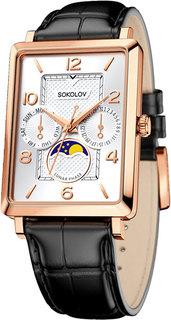Золотые мужские часы в коллекции Credo Мужские часы SOKOLOV 233.01.00.000.05.01.3
