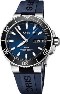 Швейцарские мужские часы в коллекции Aquis Мужские часы Oris 752-7733-41-35RS