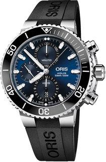 Швейцарские мужские часы в коллекции Aquis Мужские часы Oris 774-7743-41-55RS