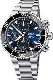 Швейцарские мужские часы в коллекции Aquis Мужские часы Oris 774-7743-41-55MB