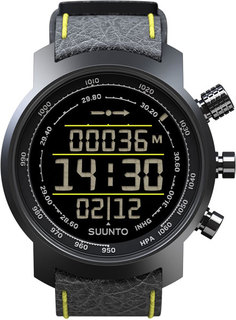 Мужские часы в коллекции Elementum Мужские часы Suunto elementum-terra-n/black/yellow-leather