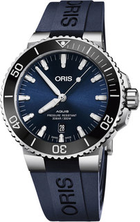 Швейцарские мужские часы в коллекции Aquis Мужские часы Oris 733-7730-41-35RS