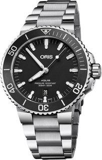 Швейцарские мужские часы в коллекции Aquis Мужские часы Oris 733-7730-41-54MB