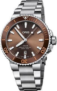 Швейцарские мужские часы в коллекции Aquis Мужские часы Oris 733-7730-41-52MB