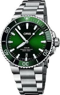 Швейцарские мужские часы в коллекции Aquis Мужские часы Oris 733-7730-41-57MB