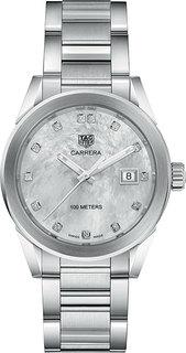Швейцарские женские часы в коллекции Carrera Женские часы TAG Heuer WBG1312.BA0758