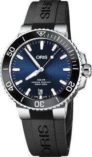 Швейцарские мужские часы в коллекции Aquis Мужские часы Oris 733-7732-41-35RS