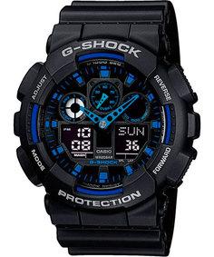 Японские мужские часы в коллекции G-SHOCK Мужские часы Casio GA-100-1A2