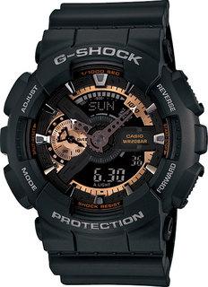 Японские мужские часы в коллекции G-SHOCK Мужские часы Casio GA-110RG-1A