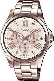 Японские женские часы в коллекции Sheen Женские часы Casio SHE-3806D-7A