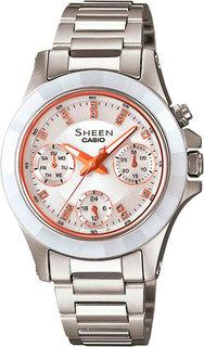 Японские женские часы в коллекции Sheen Женские часы Casio SHE-3503SG-7A