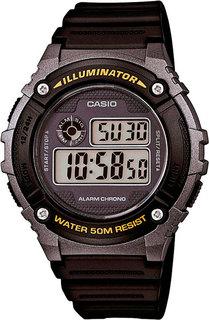 Японские мужские часы в коллекции Collection Мужские часы Casio W-216H-1B