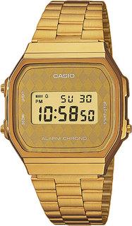Японские мужские часы в коллекции Vintage Мужские часы Casio A-168WG-9B