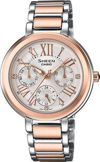Японские женские часы в коллекции Sheen Женские часы Casio SHE-3034SPG-7A
