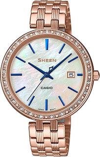 Японские женские часы в коллекции Sheen Женские часы Casio SHE-4052PG-2A