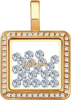 Золотые кулоны, подвески, медальоны Кулоны, подвески, медальоны SOKOLOV 035350_s