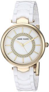 Женские часы в коллекции Ceramics Женские часы Anne Klein 3308WTGB