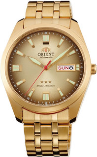 Японские мужские часы в коллекции 3 Stars Crystal 21 Jewels Мужские часы Orient RA-AB0021G1