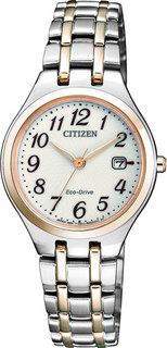 Японские женские часы в коллекции Eco-Drive Женские часы Citizen EW2486-87A