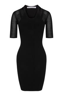 Черное трикотажное платье мини Alexander Wang