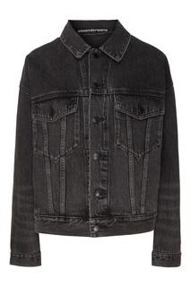 Темно-серая джинсовая куртка Alexander Wang