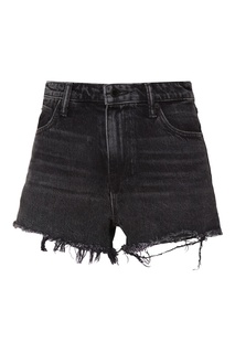Темно-серые джинсовые шорты Bite Alexander Wang