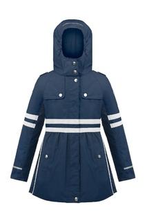Синяя куртка с расклешенным подолом Poivre Blanc