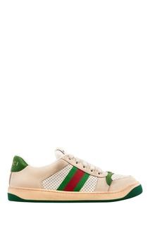 Кожаные кроссовки Screener Gucci