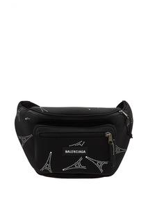 Поясная сумка Explorer со стразами и логотипом Balenciaga